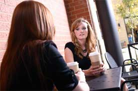 2 women at coffee Fast Forward Life Coaching