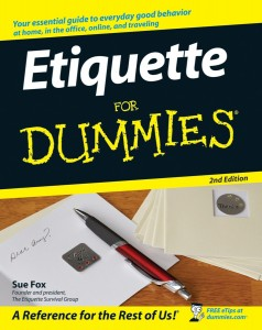 etiquette for dummies 238x300 Etiquette FUN for Client Lunches OR Dinner with Friends