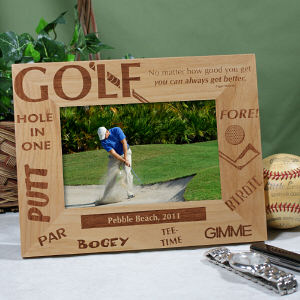 Golfer in frame Cheap Client Gifts Theyll Treasure