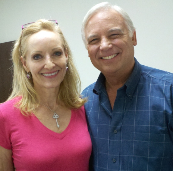 "Robin Jay & Jack Canfield on the Set of ""The KEEPER of the KEYS"""