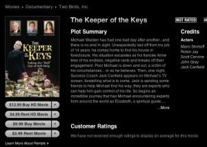 itunes key page sm 300x213 The Keeper of the Keys Now Available on iTunes