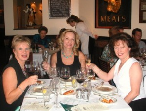 Wine week Louise Robin and Ellen small 300x229 Business Meal Etiquette Still Stumps Many