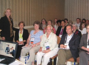 Motivational Sales Speaker Robin Jay with Her Audience