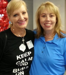 Robin Jay with HP's Eileen Angel