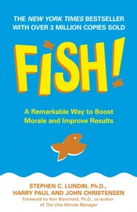 """Corporate Keynote Speaker Robin Jay shares a story about Harry Paul's book, """"Fish!"""""""