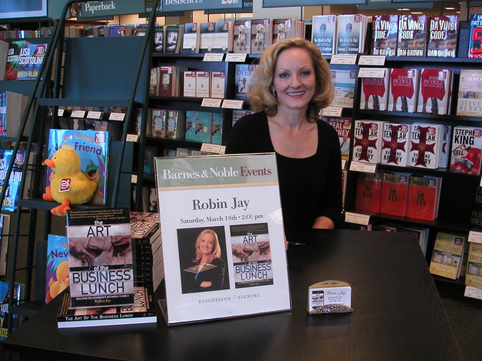 Robin Jay, Book Signing at Barnes & Noble